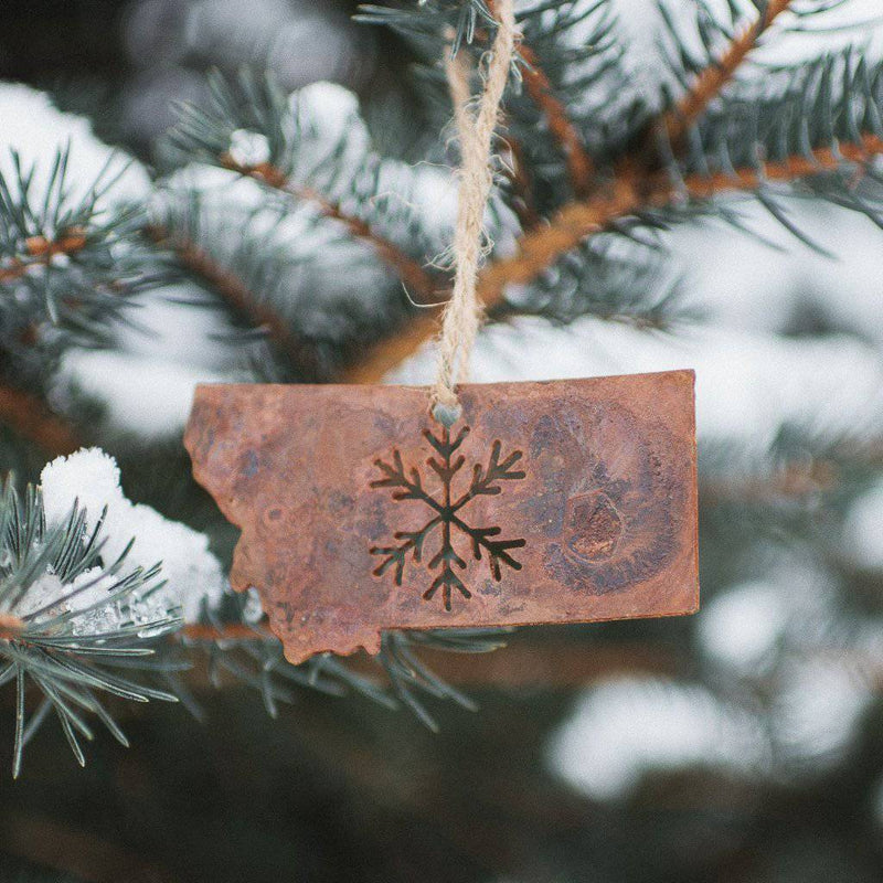 Classic Snowflake Metal Ornament - MONTANA SHIRT CO.
