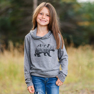 Montana Bear Kids Lightweight Hoodie - MONTANA SHIRT CO.