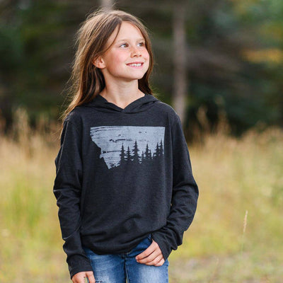 Alpine Forest Kids Lightweight Hoodie - MONTANA SHIRT CO.