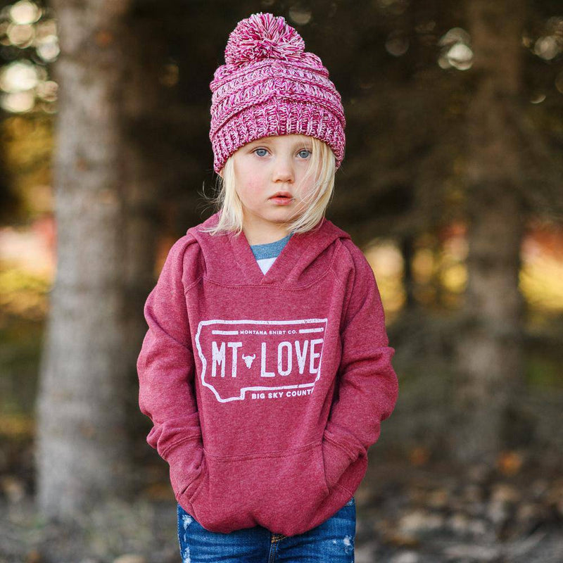 MT Love License Hoodie Toddler - MONTANA SHIRT CO.