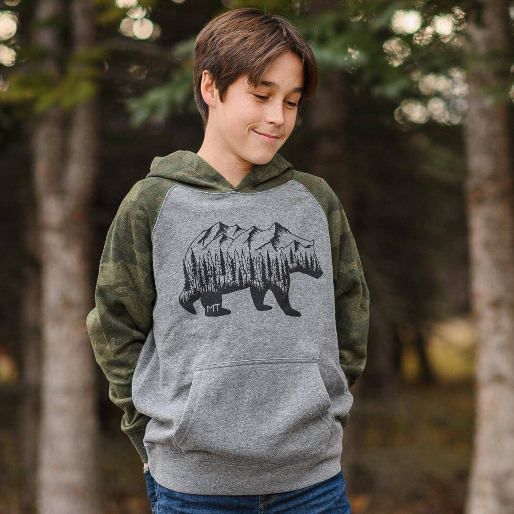 Montana Bear Hoodie (kids) - MONTANA SHIRT CO.