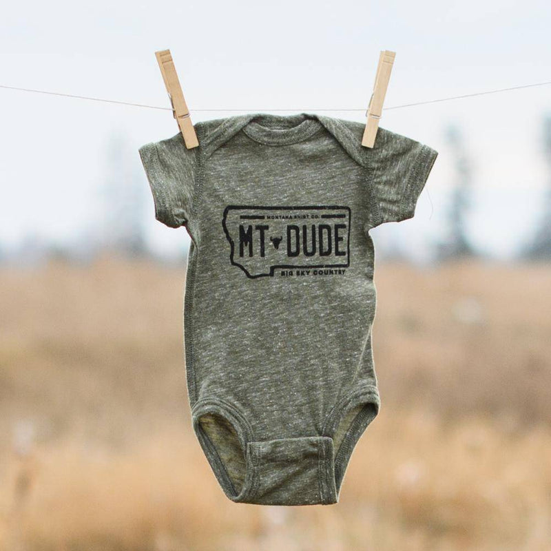 License Plate Dude (onesie) - MONTANA SHIRT CO.