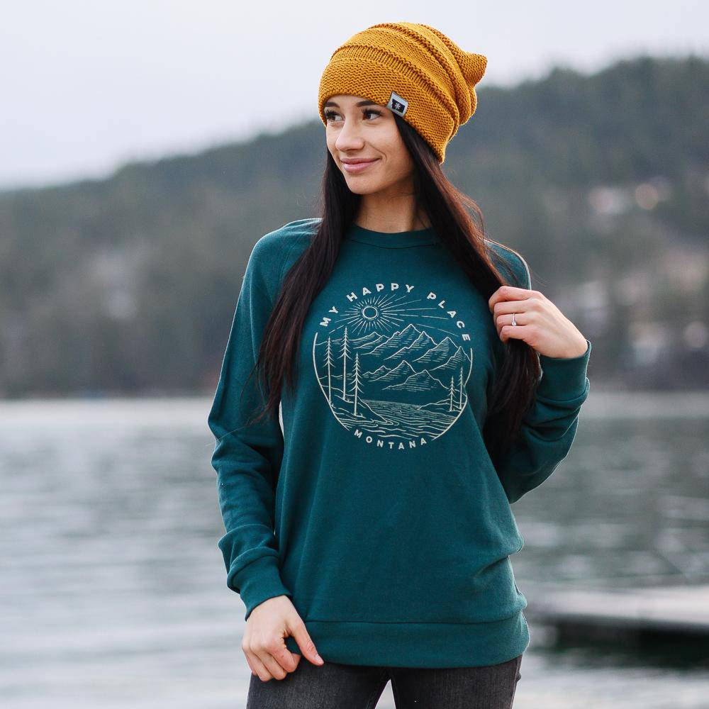 My Happy Place Terry Crewneck - MONTANA SHIRT CO.