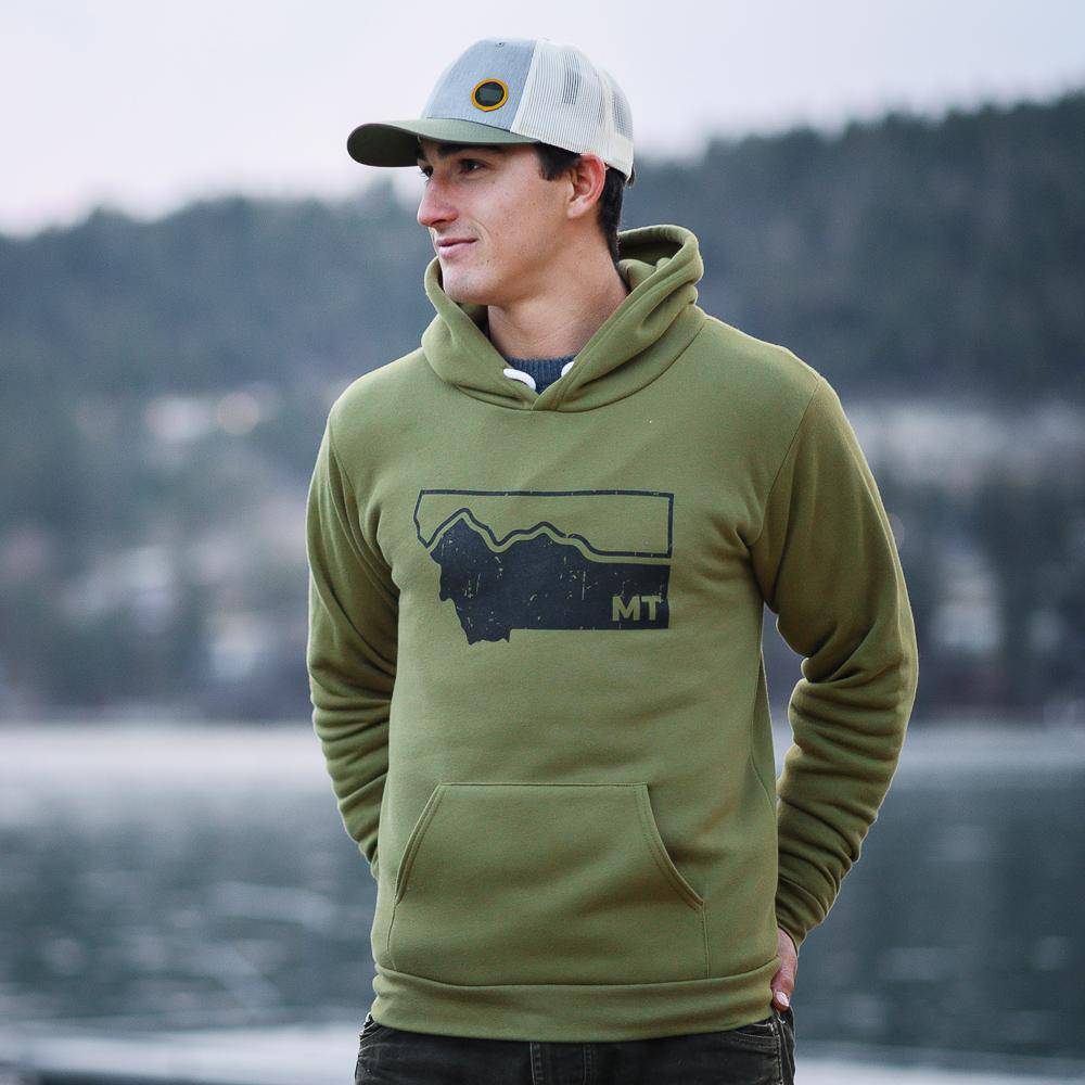 Montana Mountains Hoodie (unisex) - MONTANA SHIRT CO.