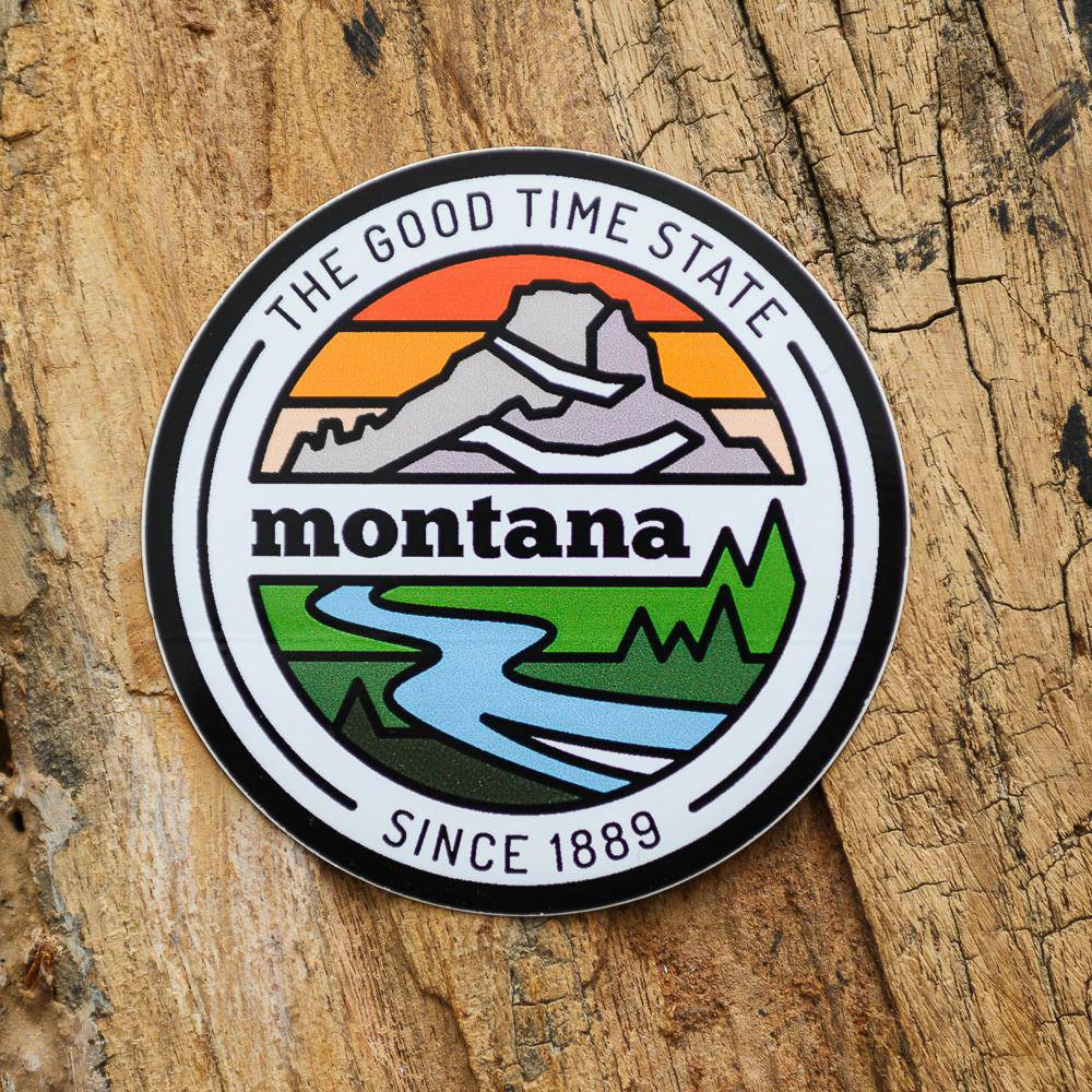MT Good Time State Sticker - MONTANA SHIRT CO.