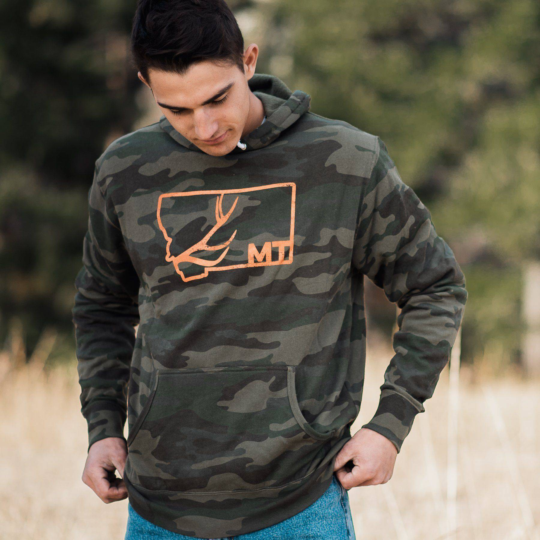 Antler Outline Hoodie - MONTANA SHIRT CO.