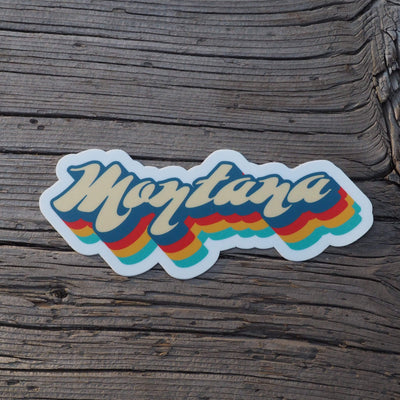 Retro Montana Stickers - MONTANA SHIRT CO.