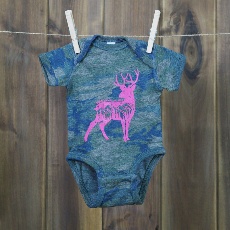 Camo Deer (onesie) - MONTANA SHIRT CO.