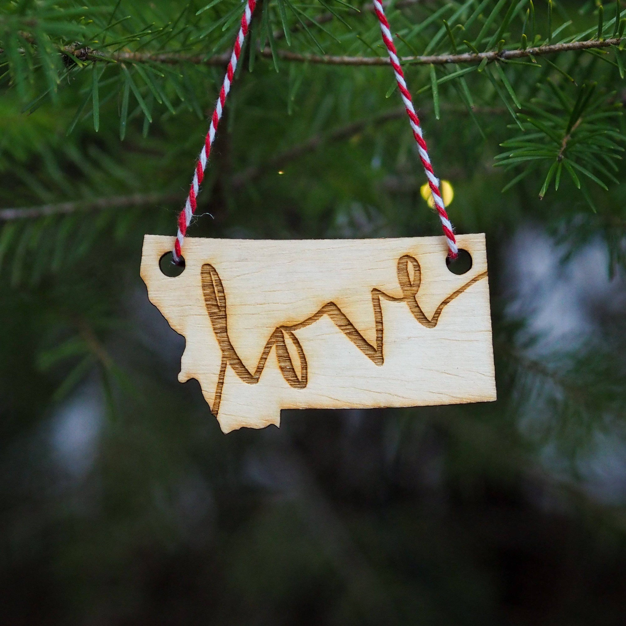Love Letter Wood Ornament - MONTANA SHIRT CO.