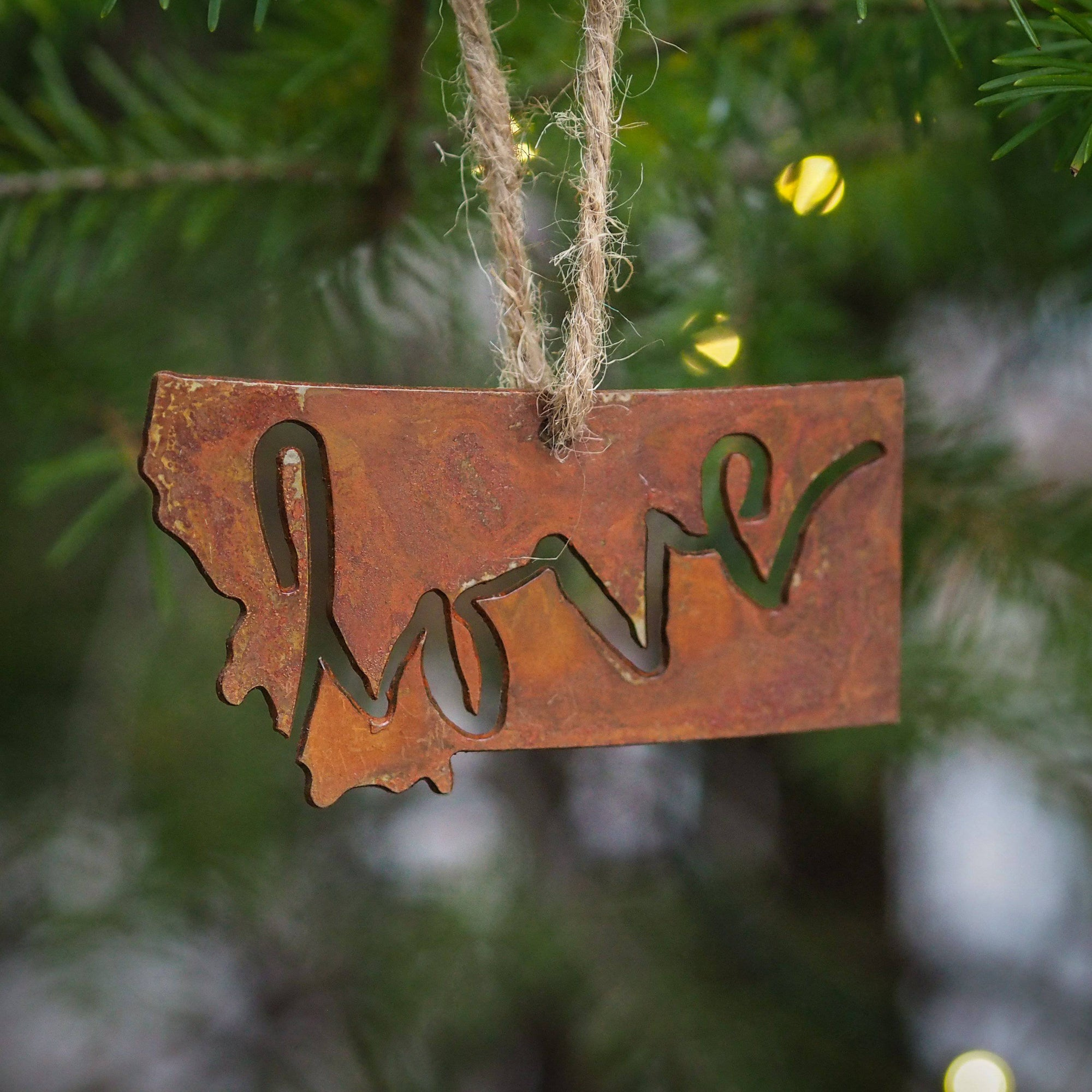 Love Letter Metal Ornament - MONTANA SHIRT CO.