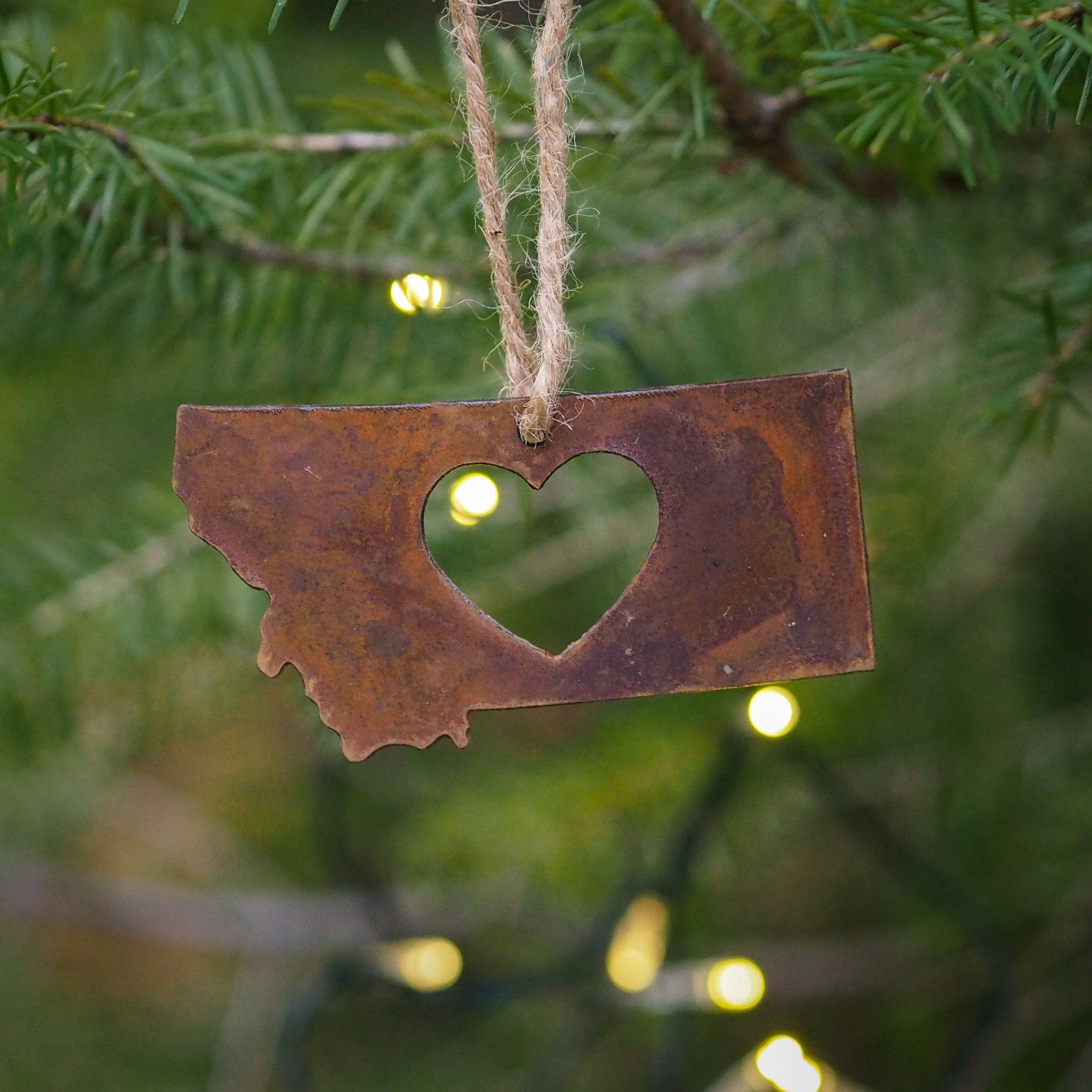 Classic Heart Metal Ornament - MONTANA SHIRT CO.