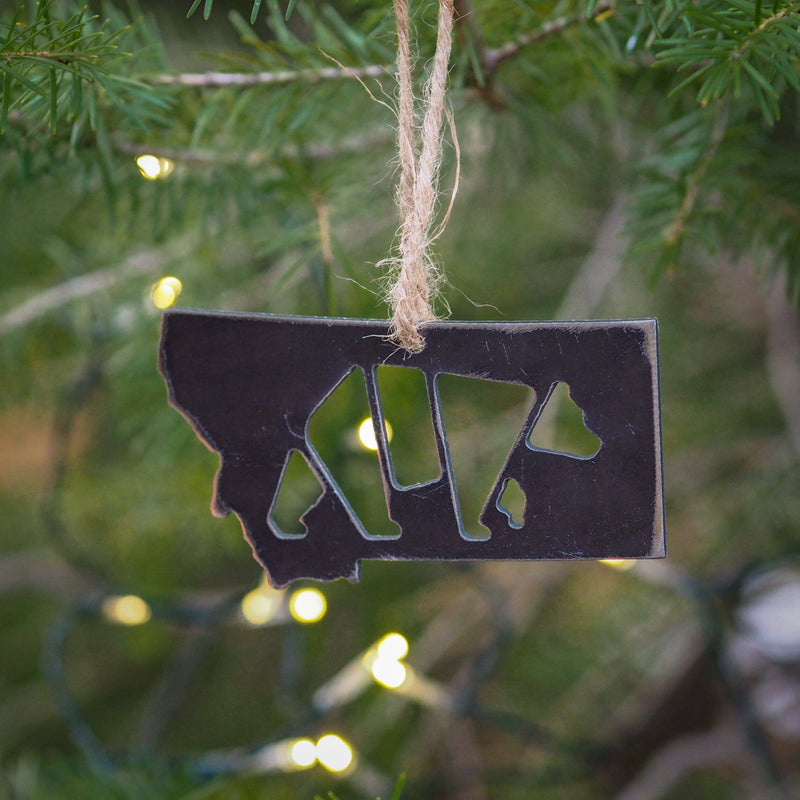 Montana Bear Metal Ornament - MONTANA SHIRT CO.