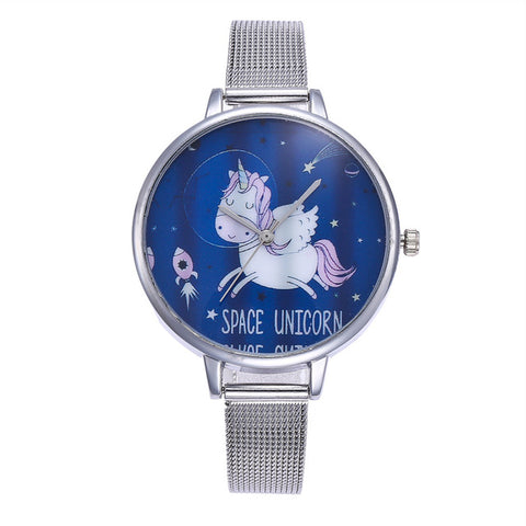 Watches Fast 10pcs Unicorn Watch Childrens Watch Carton Rainbow Unicorns Animal Kids Girls Led Slap Watches Wristwatches Gift Clear And Distinctive