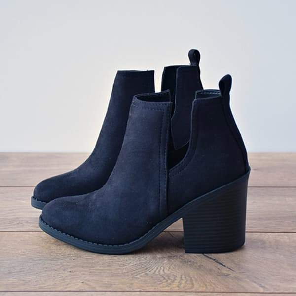 Flamechill Ankle Pointed Chunky Boots