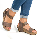 Flamechill Low Heel Wedge Sandals