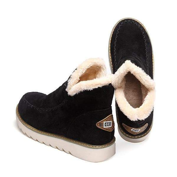 Flamechill Fur Lining Ankle Snow Boots