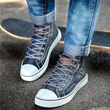 Flamechill Unisex High Top Canvas Sneakers Denim Shoes
