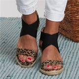 Flamechill Summer Round Toe High Heel Wedge Casual Ladies Sandals