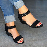 Flamechill Daily Comfy Low Heel Wedge Sandals