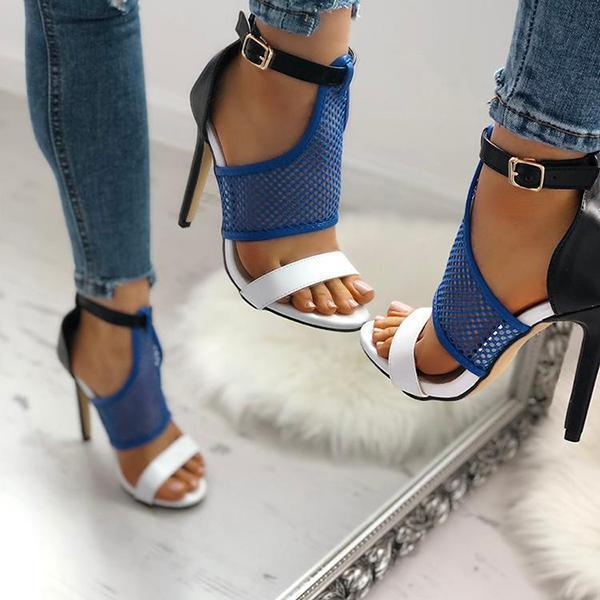 Flamechill Open Toe Thin Heeled Sandals