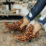 Flamechill Cut Out Booties Ankle Heels Boots