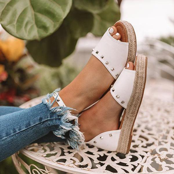 Flamechill Trendy The Hartley Espadrille Sandals