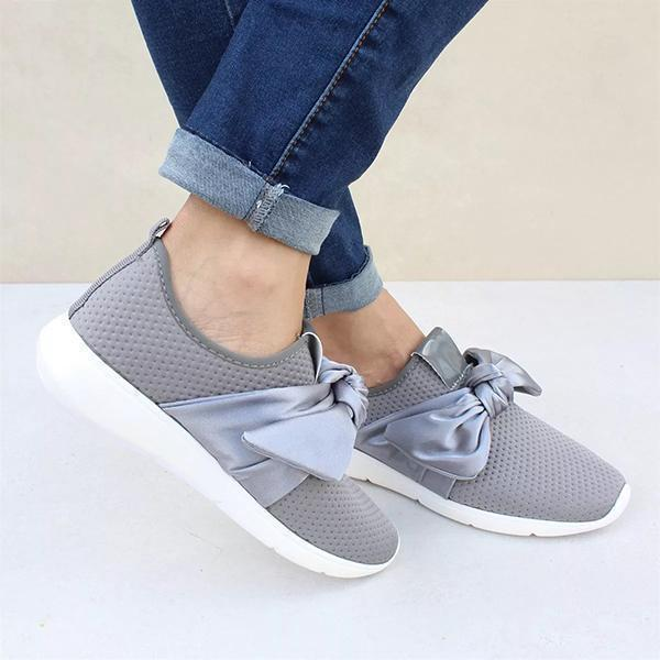 Flamechill Casual Comfy Bow Sneakers