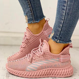 Flamechill Lace-Up Breathable Casual Sneakers