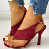 Flamechill Toe Post Slingback Thin Heeled Sandals