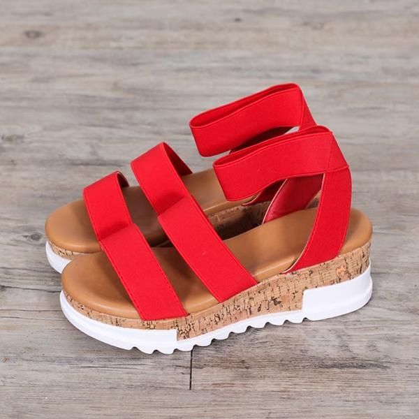 Flamechill Women Fashion Casual Wedge Heel Sandals
