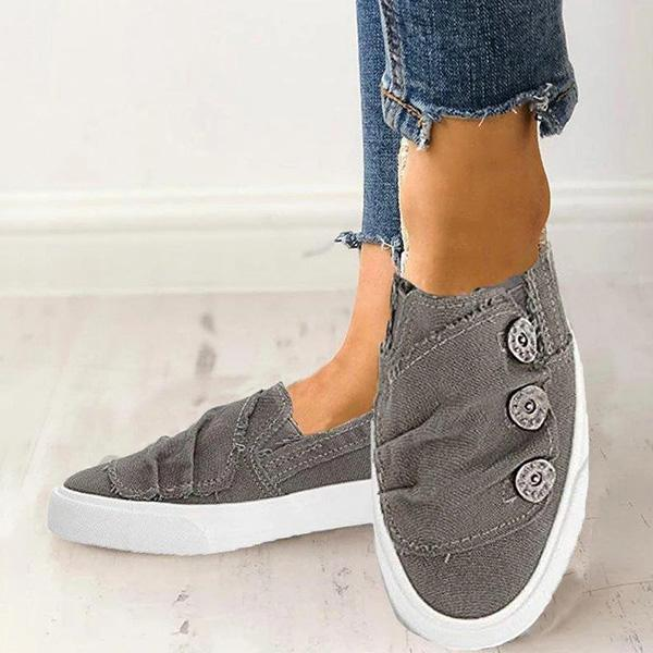Flamechill Women Casual Button Comfy Sneakers