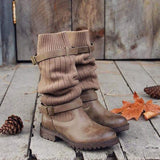 Flamechill Cabin Sweater Paneled Boots