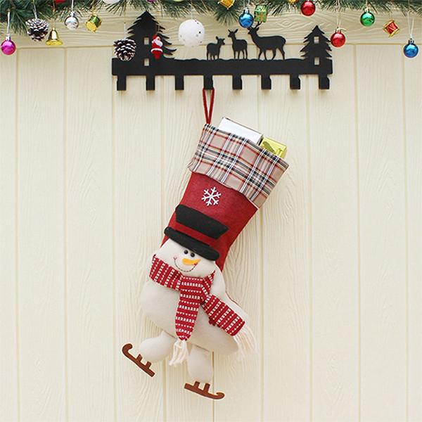 Flamechill Christmas 3-Pack Christmas Hanging Socks