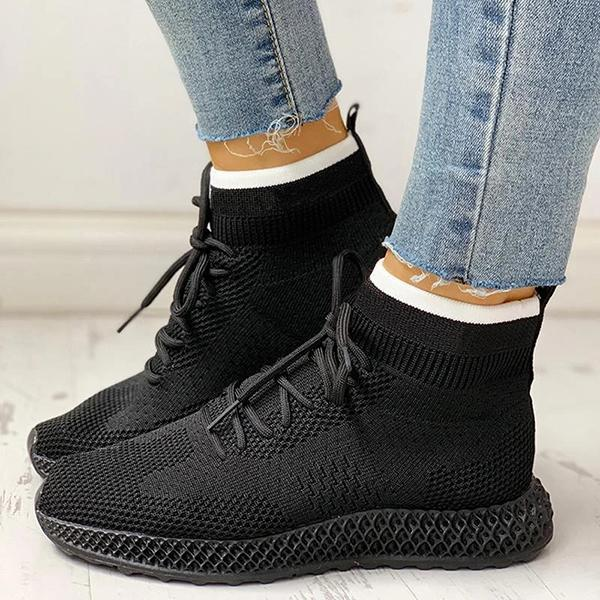 Flamechill Breathable Lace-up Casual Socks Sneakers