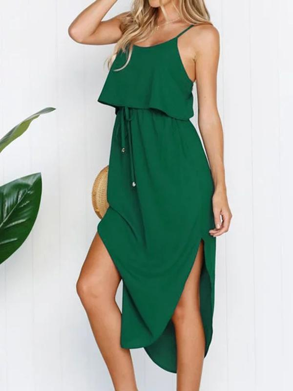 Flamechill Sling Split Dress