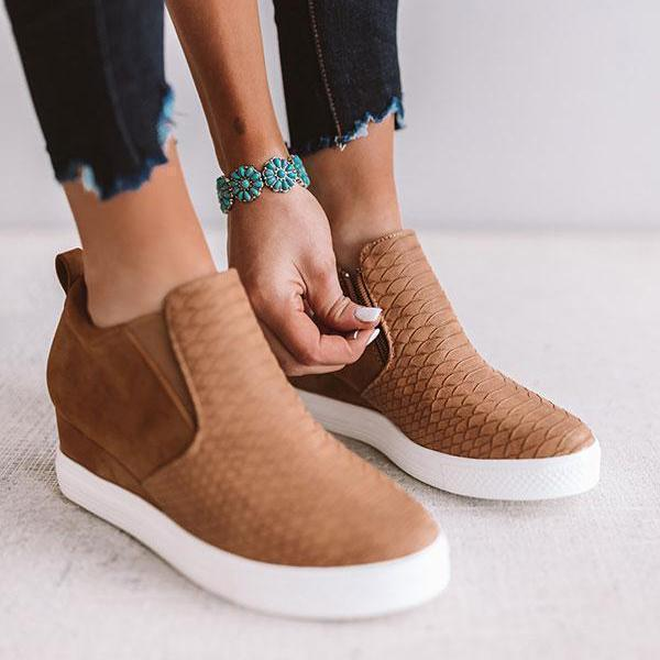 Flamechill Wedge Daily Comfy Sneakers