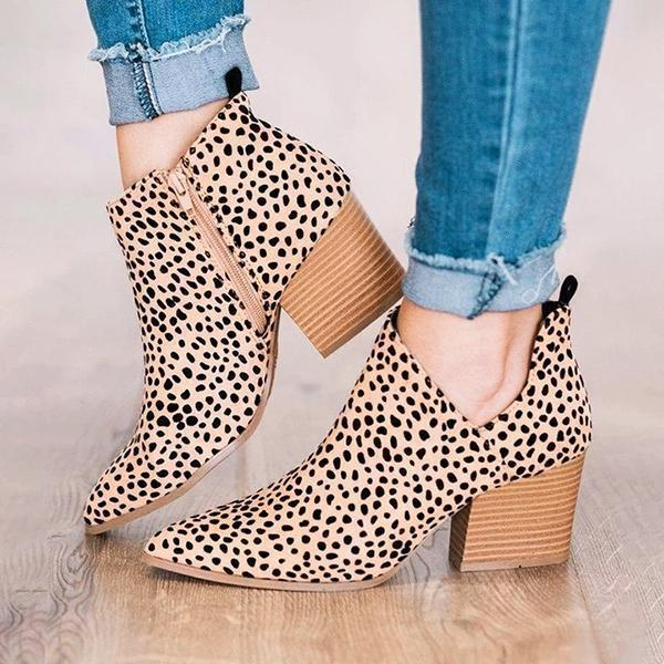 Flamechill Marie Leopard Outside Cutouts Cheetah Boots