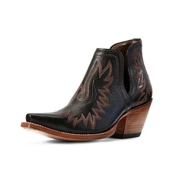 Flamechill Women's  Western Distressed Leather Cowboy Boots
