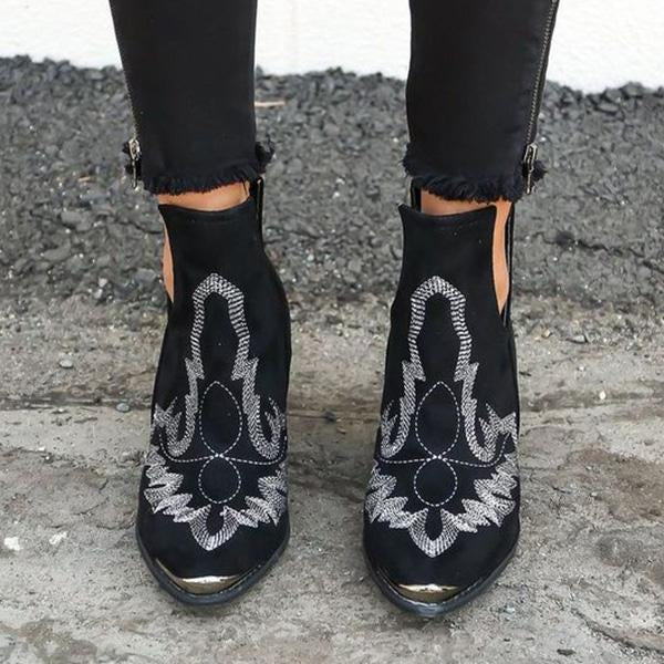 Flamechill Women Dream Embroidery Boots