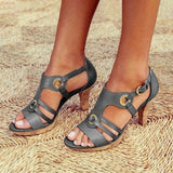 Flamechill New Elegant Pumps Vintage Women Sandals