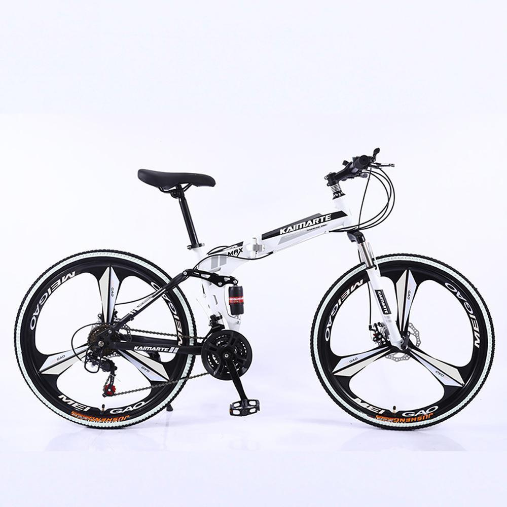 "26"" 21-Speed Mountain Bike for Adult, High carbon steel Full Suspension Frame, Disc Brake"