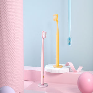 Macaron Wide Ultra Magnetic Toothbrush - Pink