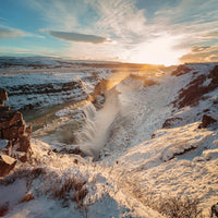 Gullfoss golden circle tour iceland winter
