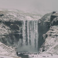 Skogafoss winter snow