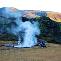 Helicopter on geothermal area tour Iceland