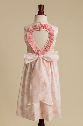 'Ballet Pink' Heart-back Ruffle Dress