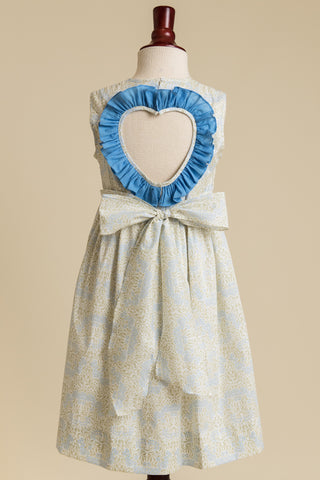 'Summer Sage' Heart-back Ruffle Dress