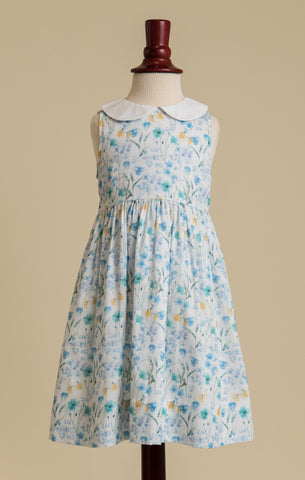 Diana's Garden Charlotte Dress in Blue