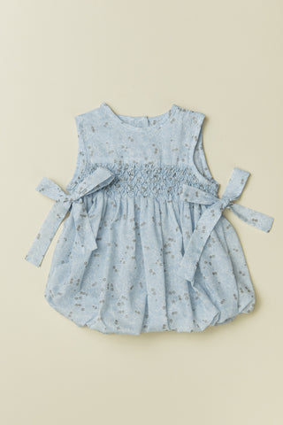 'Shimmery Whispers' Sleeveless Baby Bubble in Baby Blue