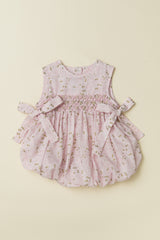 'Shimmery Whispers' Sleeveless Baby Bubble in Pink
